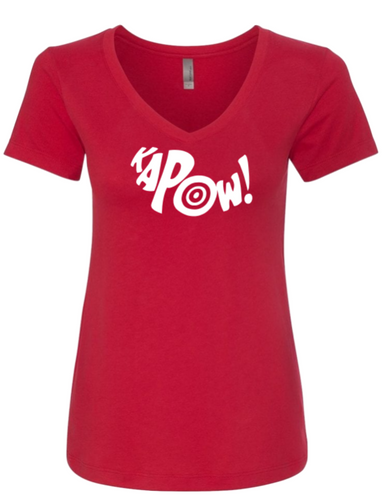 KaPow V-neck Tee - Alycia Mikay Fashion