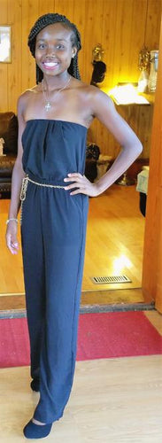 Simply Chic Strapless Jumpsuit - Alycia Mikay Fashion