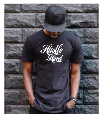 Hustle Hard Tee - Alycia Mikay Fashion
