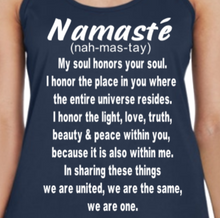 Load image into Gallery viewer, Namaste Racerback Performance Tank Top - Alycia Mikay Fashion