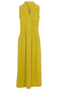 V-Neck Pleated Sleeveless Dress - Alycia Mikay Fashion