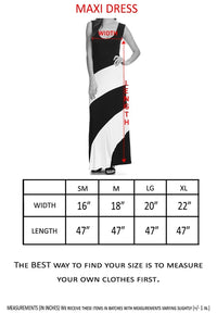 Women's Striped Sleeveless Maxi Summer Dress - Alycia Mikay Fashion