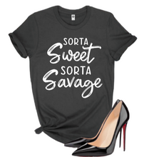 Load image into Gallery viewer, Sorta Sweet Sorta Savage  T-shirt - Alycia Mikay Fashion