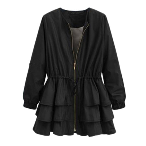 Plus Size Cascading Ruffles Jacket - Alycia Mikay Fashion