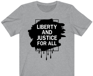 Liberty and Justice T-Shirt - Alycia Mikay Fashion