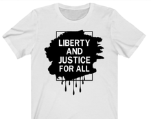 Load image into Gallery viewer, Liberty and Justice T-Shirt - Alycia Mikay Fashion