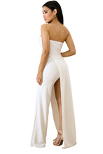 Load image into Gallery viewer, White Asymmetric Jumpsuit - Alycia Mikay Fashion