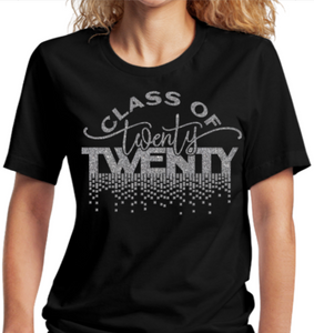 Seniors T-Shirt:  Glitter Class of 2020 Tee - Alycia Mikay Fashion