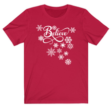 Load image into Gallery viewer, Christmas Believe T-shirt