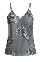 Load image into Gallery viewer, Gray Tropical Print Tank Top - Alycia Mikay Fashion