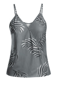 Gray Tropical Print Tank Top - Alycia Mikay Fashion