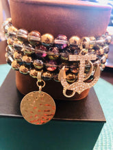 Load image into Gallery viewer, Gold Iridescent 4-piece Bracelet Set - Alycia Mikay Fashion