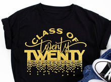 Load image into Gallery viewer, Seniors T-Shirt:  Glitter Class of 2020 Tee - Alycia Mikay Fashion