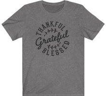 Load image into Gallery viewer, Thankful Grateful Blessed T-shirt - Alycia Mikay Fashion
