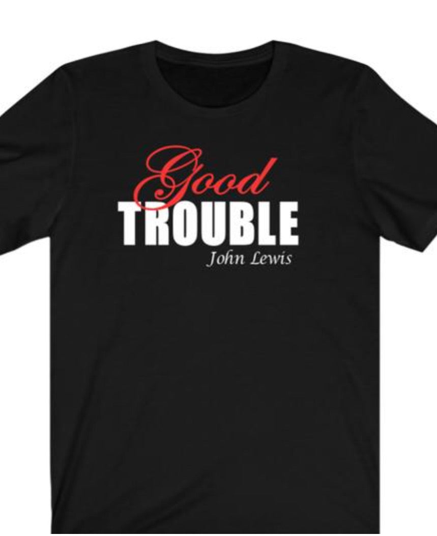 Two-toned Fancy Good Trouble T-shirt - Alycia Mikay Fashion