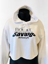 Load image into Gallery viewer, Boujee Savage Cropped Hoodie