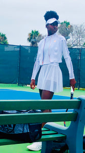 White 3-piece tennis outfit - Alycia Mikay Fashion