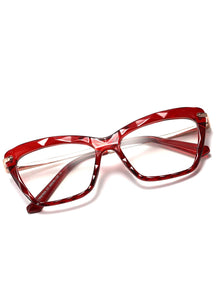Fashionable Geometric Texture Eyeglass Frames - Alycia Mikay Fashion