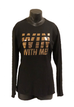 "Load image into Gallery viewer, Ladies ""Win With Me!"" Athletic/Yoga Shirt - Alycia Mikay Fashion"