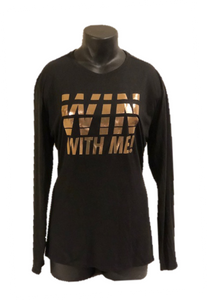 "Ladies ""Win With Me!"" Athletic/Yoga Shirt - Alycia Mikay Fashion"
