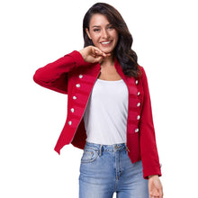 Load image into Gallery viewer, Zipper Front Military Jacket - Alycia Mikay Fashion