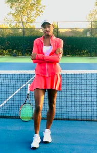 Sunrise Coral Tennis Skirt Set - Alycia Mikay Fashion