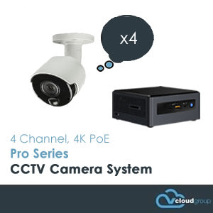 4 Channel, 4K UHD, Pro Series CCTV Camera System