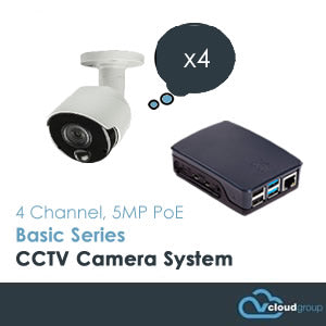 4 Channel, 5MP, Basic Series CCTV Camera System