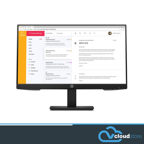 "HP P24H G4 23.8"" ProDisplay LED IPS Display"
