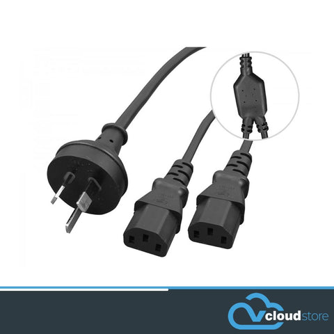 IEC C13 Power Cord - Y Splitter