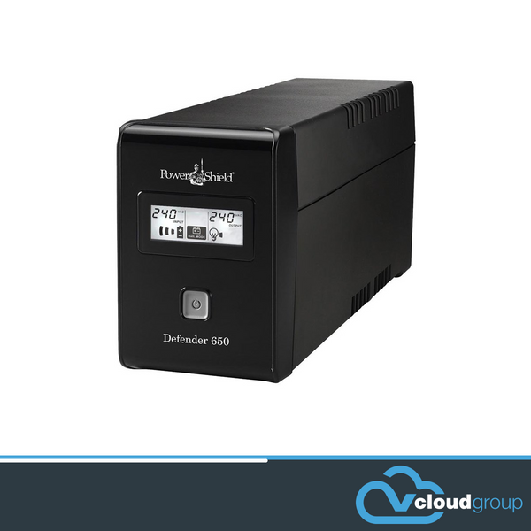 PowerShield Defender 650VA / 390W Line Interactive UPS with AVR