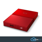 Western Digital My Passport 1TB Portable Hard Drive (Red)