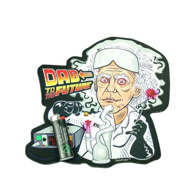 10 Die Cut Rubber Dropmat - Dab to The Future - Dabbing