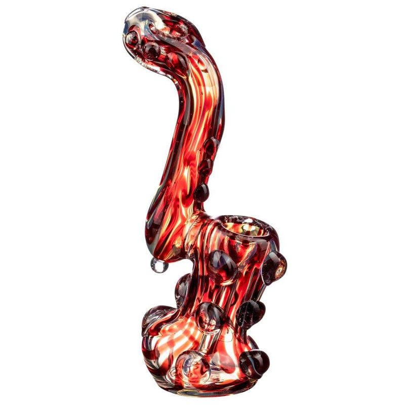 Rocky Ring Fumed Sherlock Bubbler - Red - Bubblers