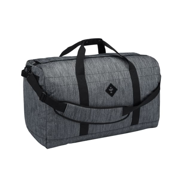 Continental Duffle Bag by Revelry - Striped Dark Grey -