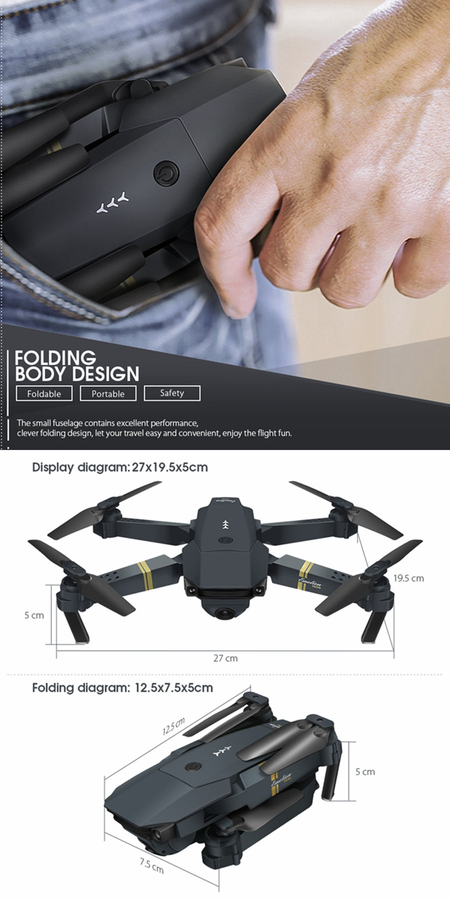 RC Drone 2MP Quadcopter