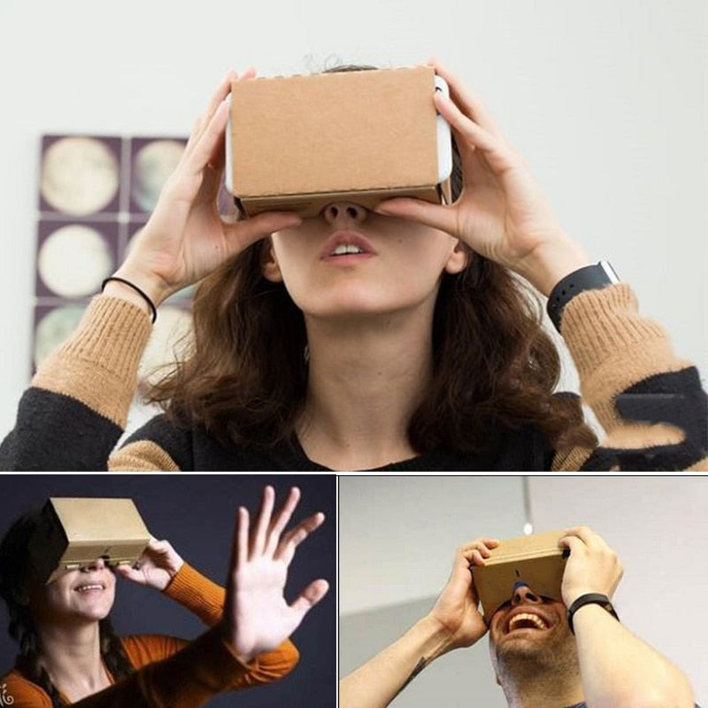 Virtual Reality Cardboard 3D Glasses