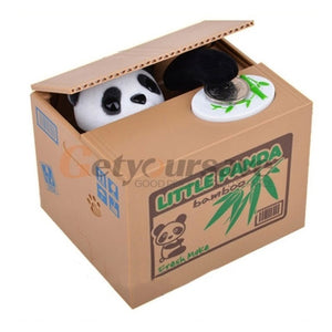 Panda Cat Thief Money boxes piggy banks