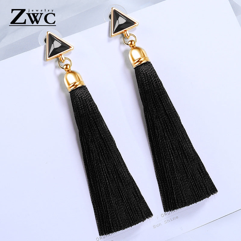 Triangle Drop Earrings For Women Girls Party Vintage Ethnic Multicolor Earring Jewelry Gifts