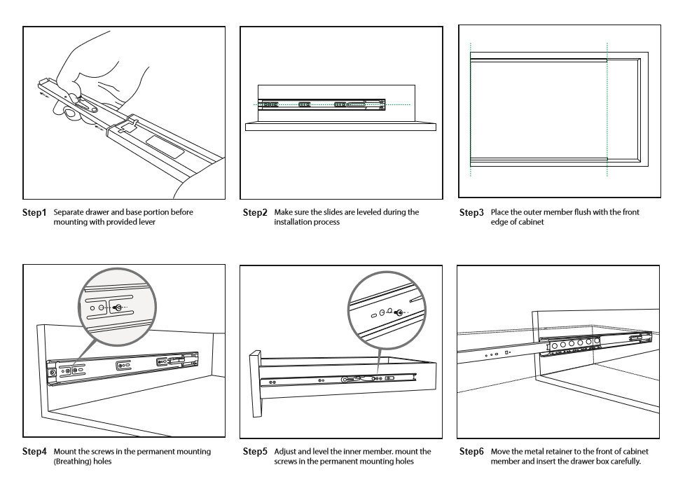 how to replace drawer slides VADANIA