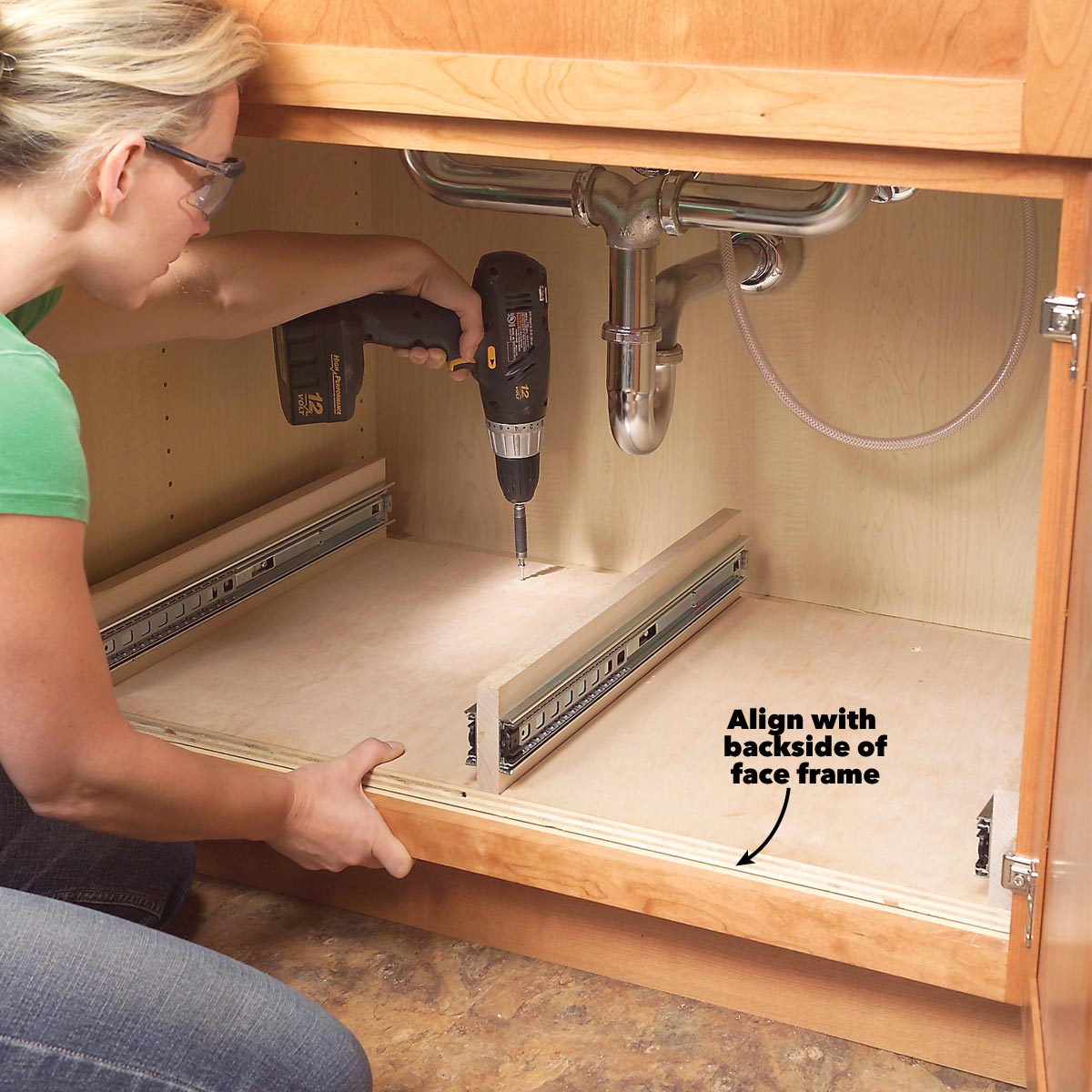 A Better Kitchen Life! Build Pull Out Under Sink Storage Trays for Your Kitchen.| VADANIA