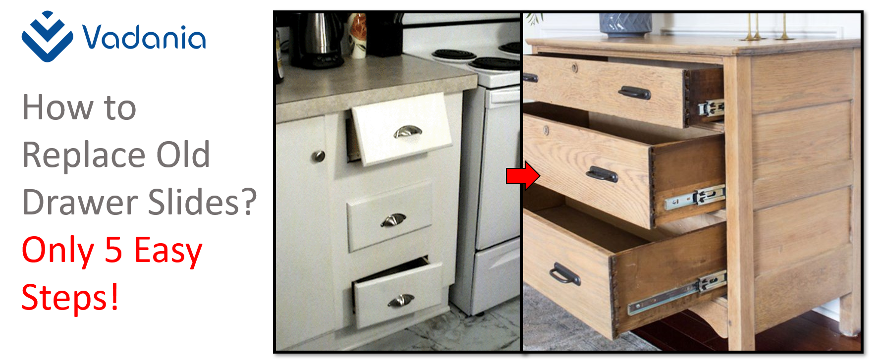 How to Replace Old Drawer Slides? Only 5 Easy Steps ...