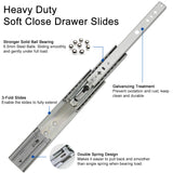 Heavy Duty Soft Close Drawer Slides - Home Upgrader | Vadania