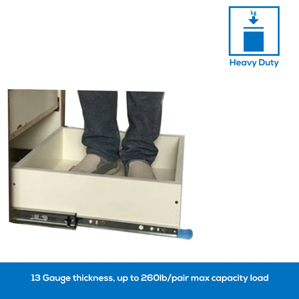 Heavy Duty Drawer Slides with Lock D2053, 1 pairs US|UK|CA - Home Upgrader | Vadania