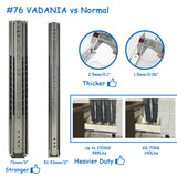 "3""/76mm width Ultra Heavy Duty Drawer Slides 485lb, 1 pair US Only - Home Upgrader 