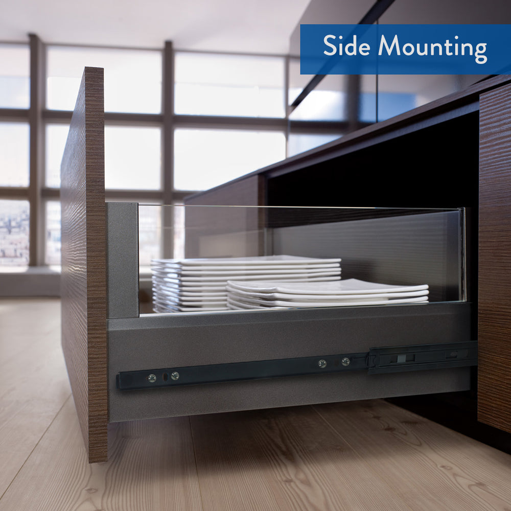 Push to Open Drawer Slides VF1245, 1-Pair - Home Upgrader | Vadania