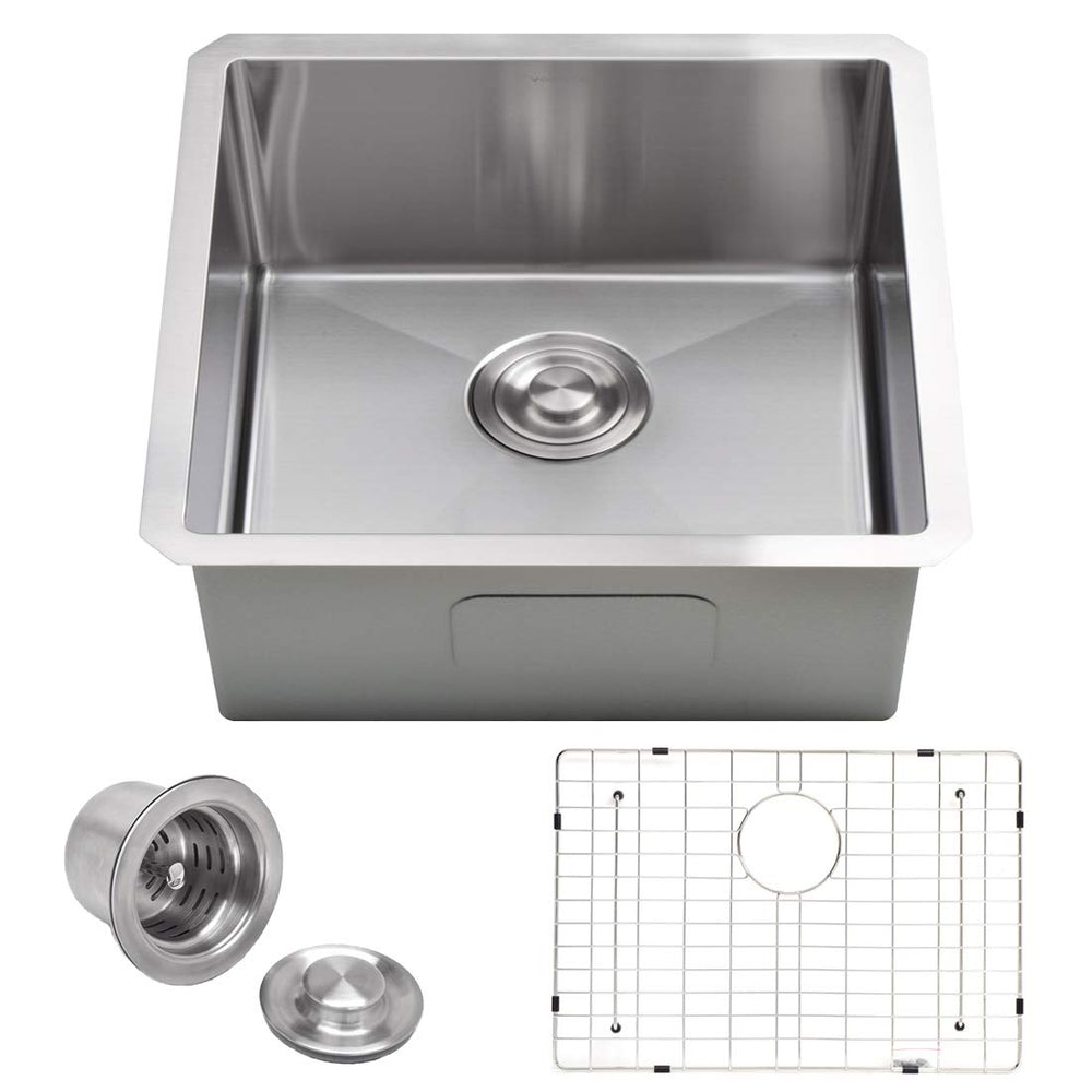 "Kitchen Sink Single Bowl 16"" - 22"" - Home Upgrader 