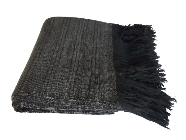 Denis Colomb Lifestyle - Black and Grey Cashmere Blanket Atlas