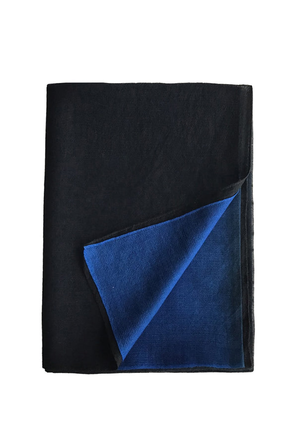 Denis Colomb Lifestyle - Blue and Black Cashmere Cloud Shawl