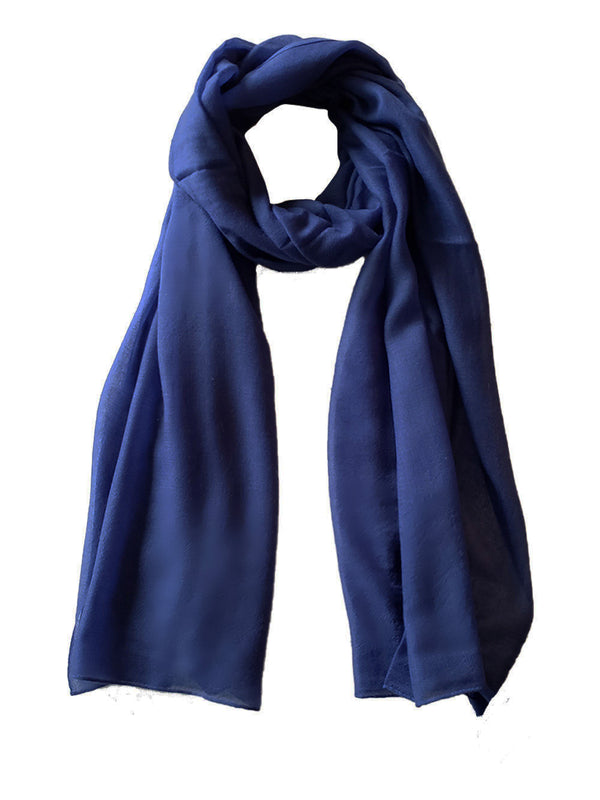 Denis Colomb Lifestyle - Navy Cashmere Cloud Shawl